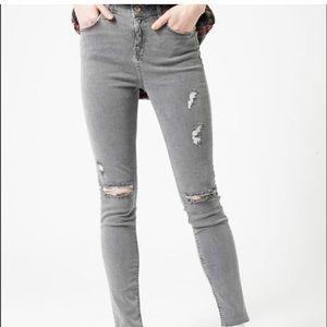 Topshop Moto High Waisted Jamie Ripped Jeans